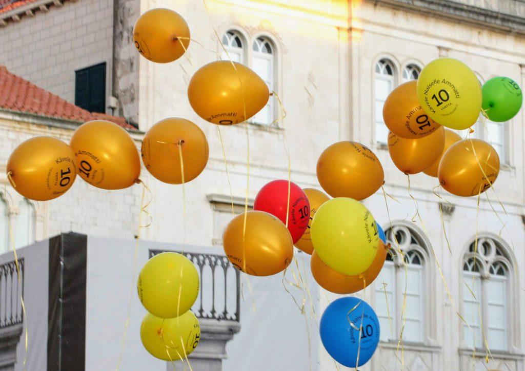Dubrovnik Kävele Naiselle Ammatti ilmapallot