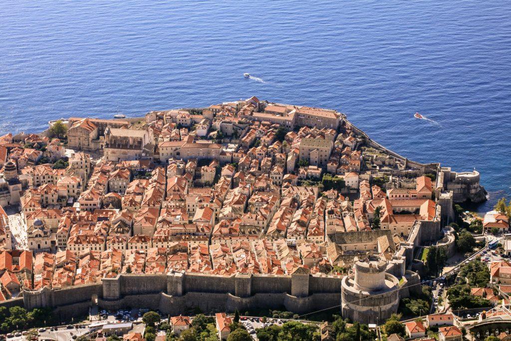 Dubrovnik Kävele Naiselle Ammatti ilmakuva