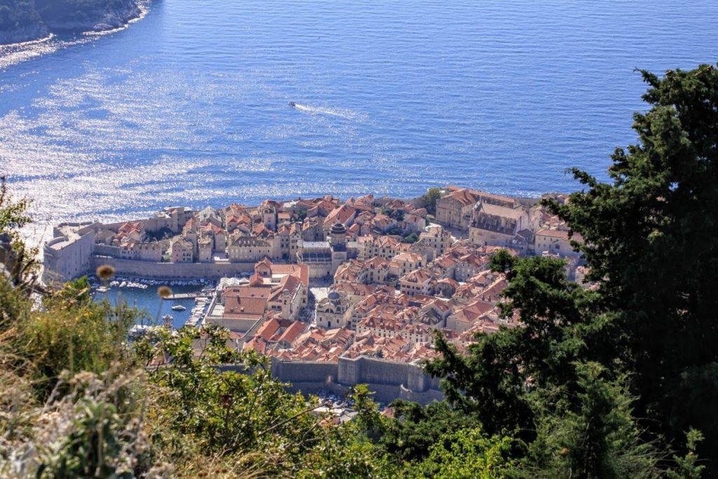 Näkymä Srđ-vuorelta Dubrovnikiin