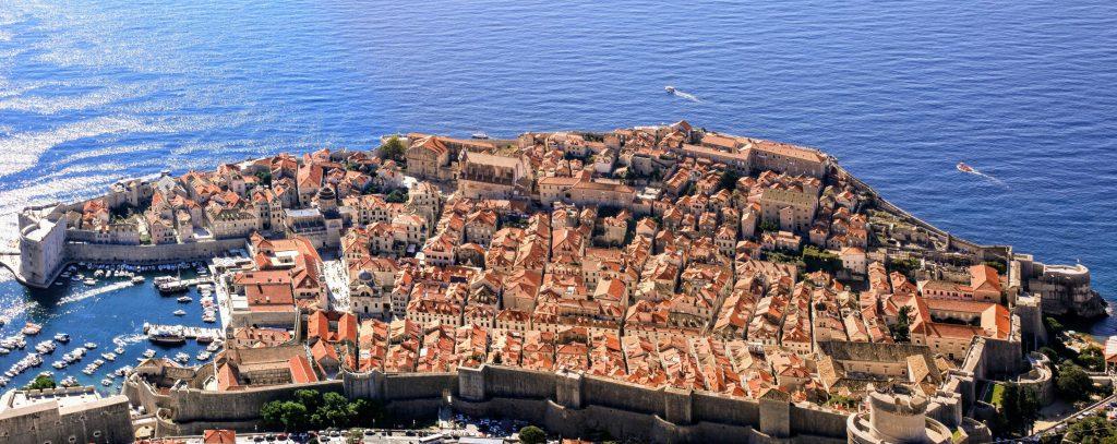 Dubrovnikin vanhakaupunki Srd-vuorelta