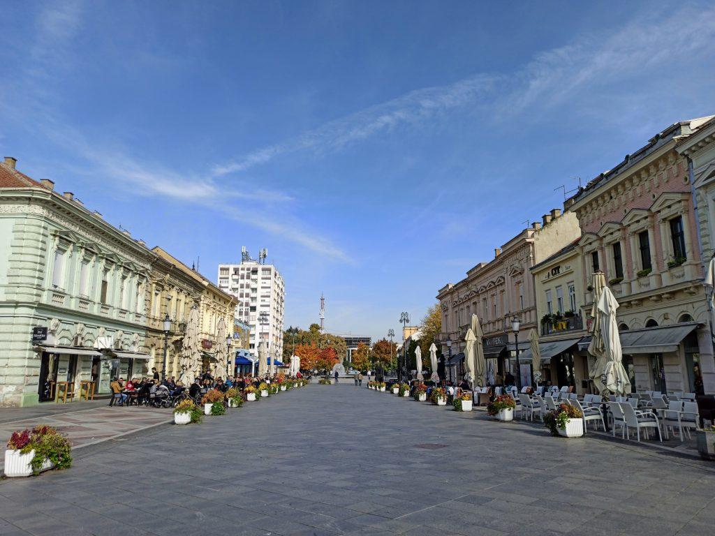 Slavonski Brod keskusaukio joelta