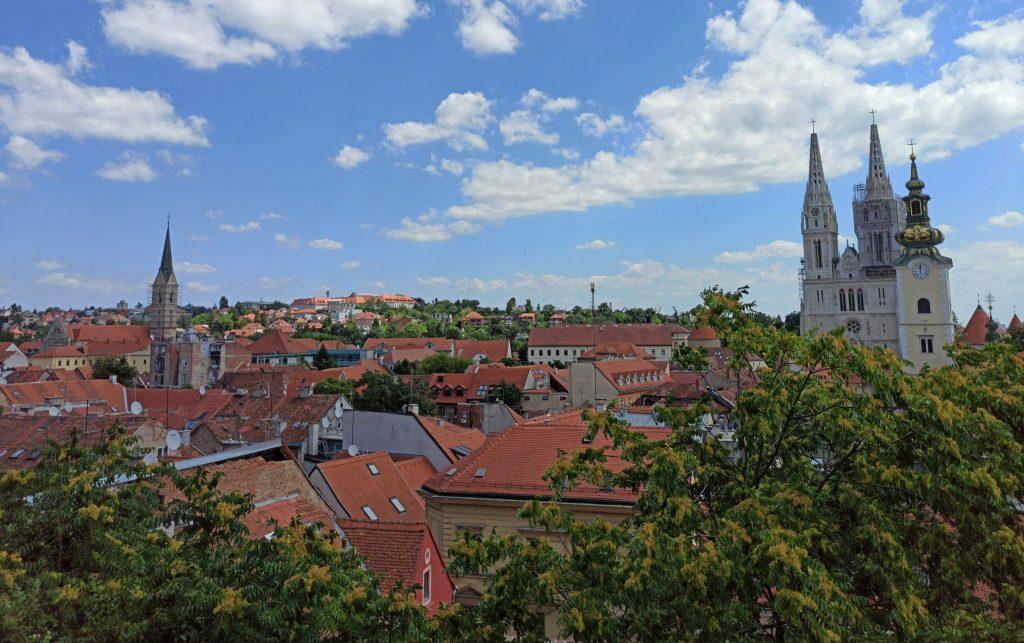 Zagreb näkymä yläkaupungista